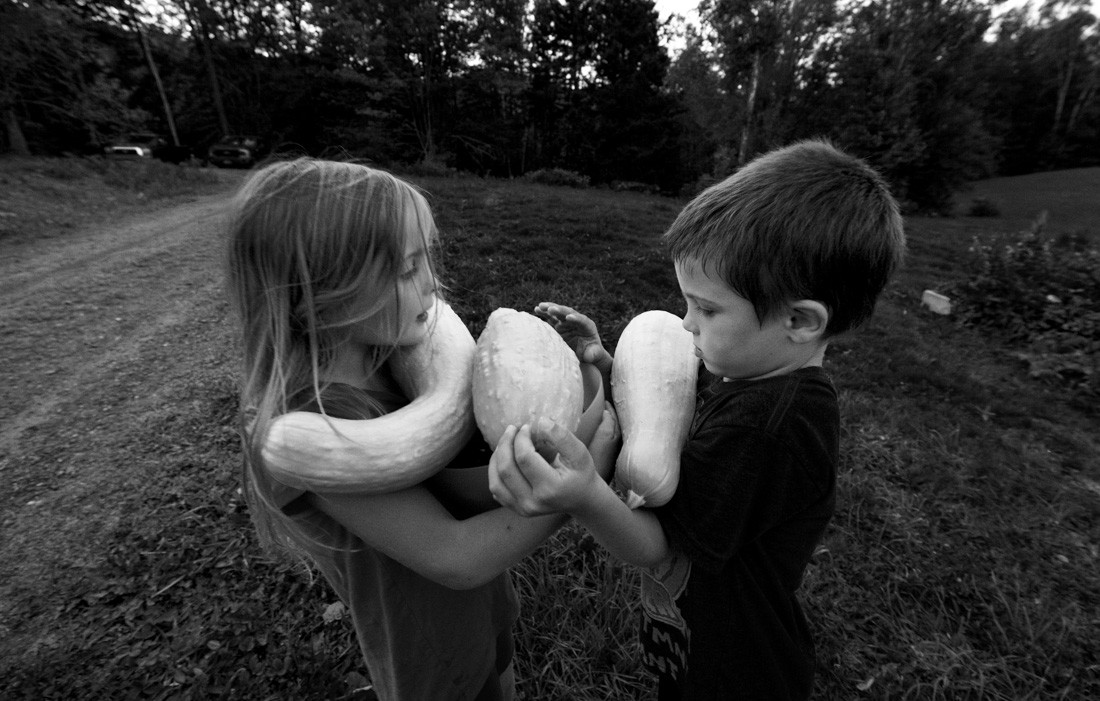 henry and annie and september squashes bw.jpg
