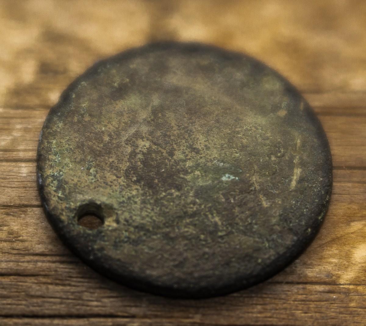 Holed Large Cent.jpg