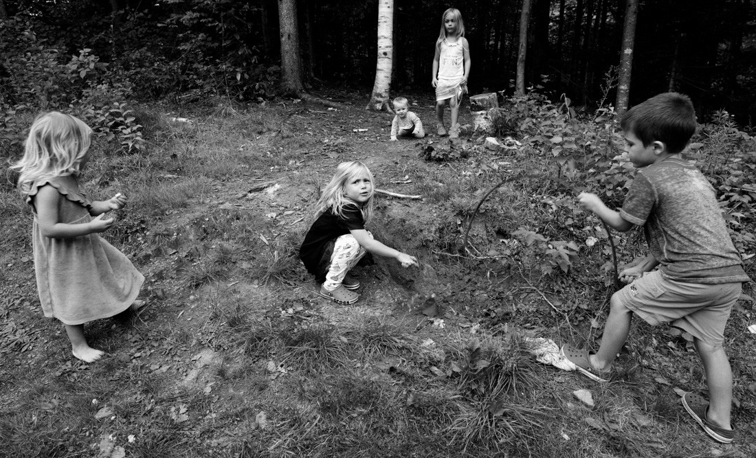 kids on the back hill with henry's metal.jpg