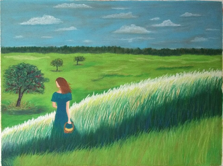 Pasture with girl and apple trees.jpg