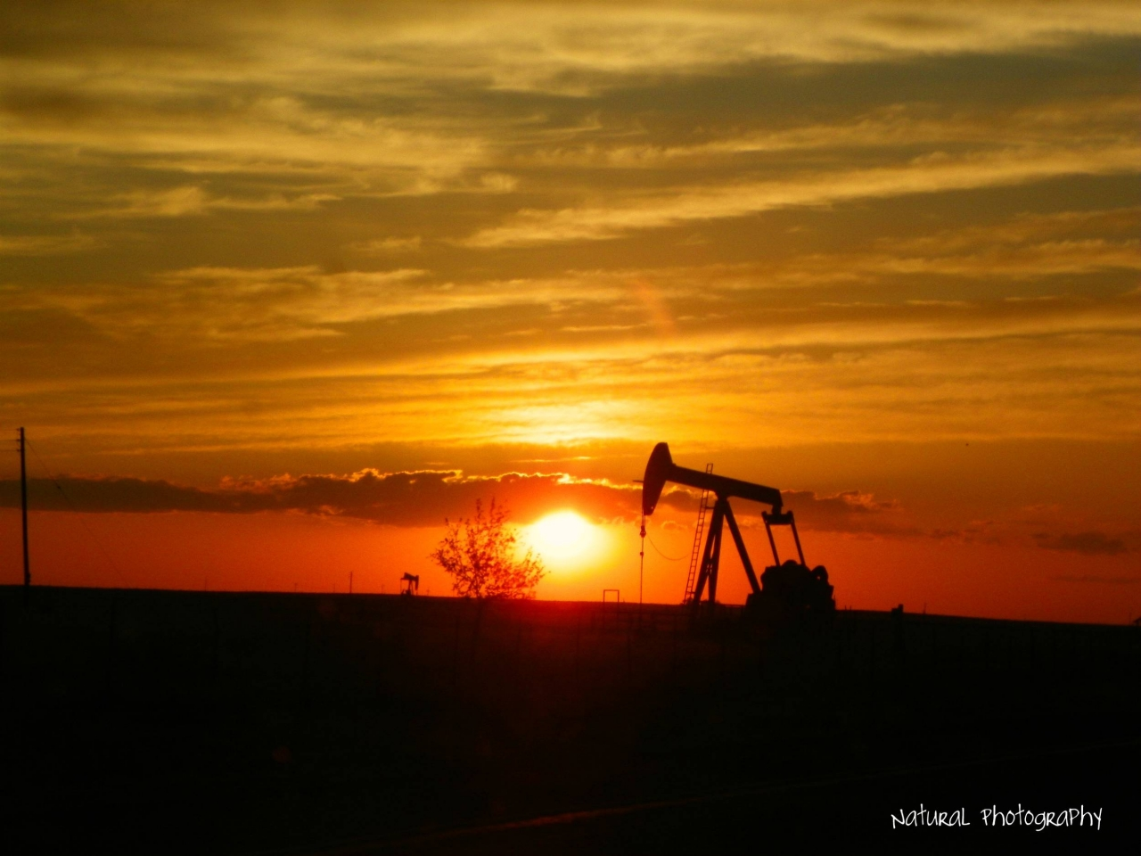 Image result for Oil well, sunset, photos