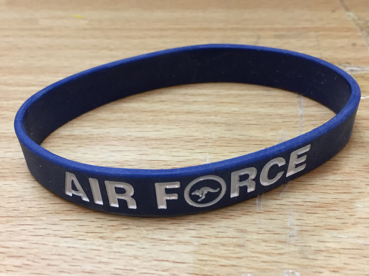 Air Force Silicon Wristband Blue