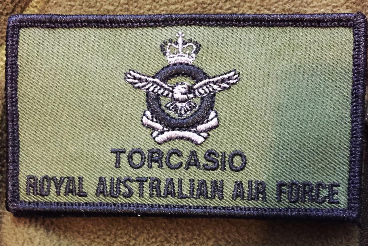 RAAF Crest Name Patch