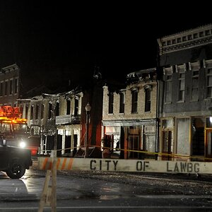 Lawrenceburg downtown fire